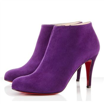 Christian Louboutin Belle 80mm Ankle Boots Parme
