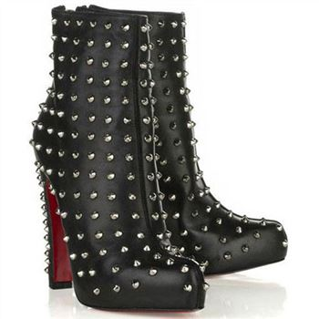 Christian Louboutin Ariella Clou 120mm Ankle Boots Black