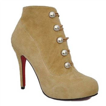 Christian Louboutin Fifre Corset 120mm Ankle Boots Camel