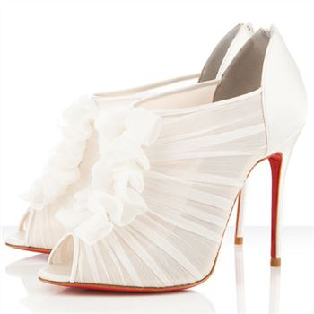 Christian Louboutin Canonita 100mm Ankle Boots White
