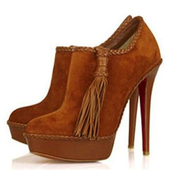 Christian Louboutin SulTaupee 140mm Ankle Boots Brown