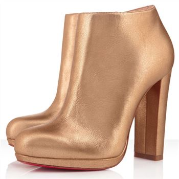 Christian Louboutin Rock And Gold 120mm Ankle Boots Gold