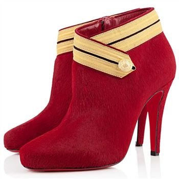 Christian Louboutin Marychal 100mm Ankle Boots Red
