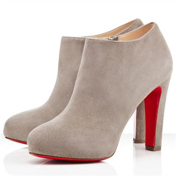 Christian Louboutin Vicky Booty 120mm Ankle Boots Grey