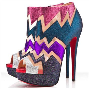 Christian Louboutin Ziggy 140mm Ankle Boots Multicolor